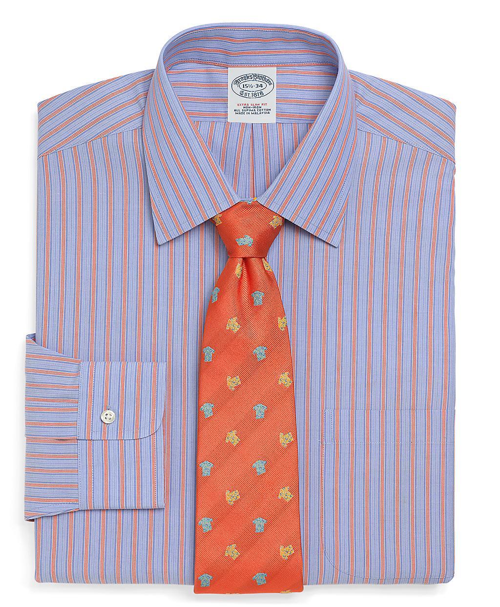 Brooks brothers supima cotton noniron extraslim fit bold for Supima cotton dress shirts
