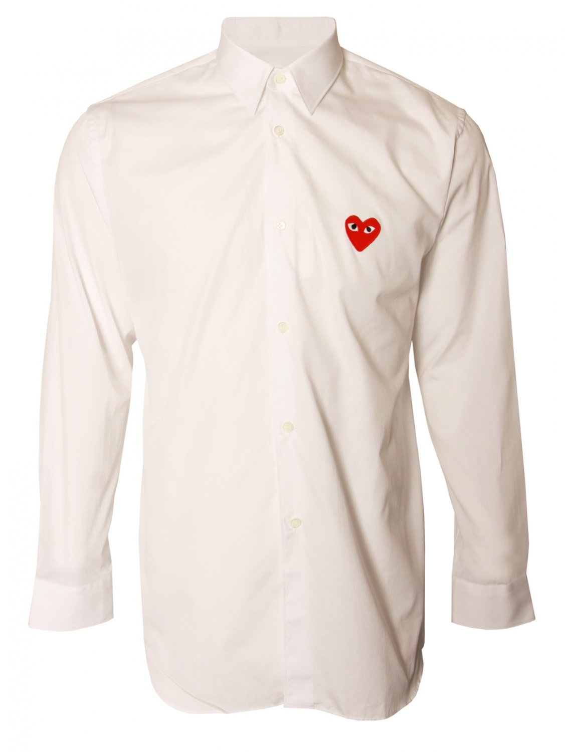 comme des gar ons play mens red heart classic shirt white. Black Bedroom Furniture Sets. Home Design Ideas