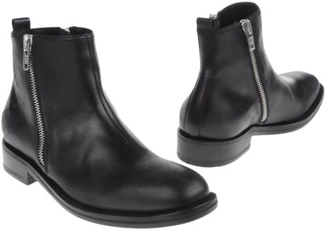 Costume National Homme Ankle Boots In Black For Men Brown