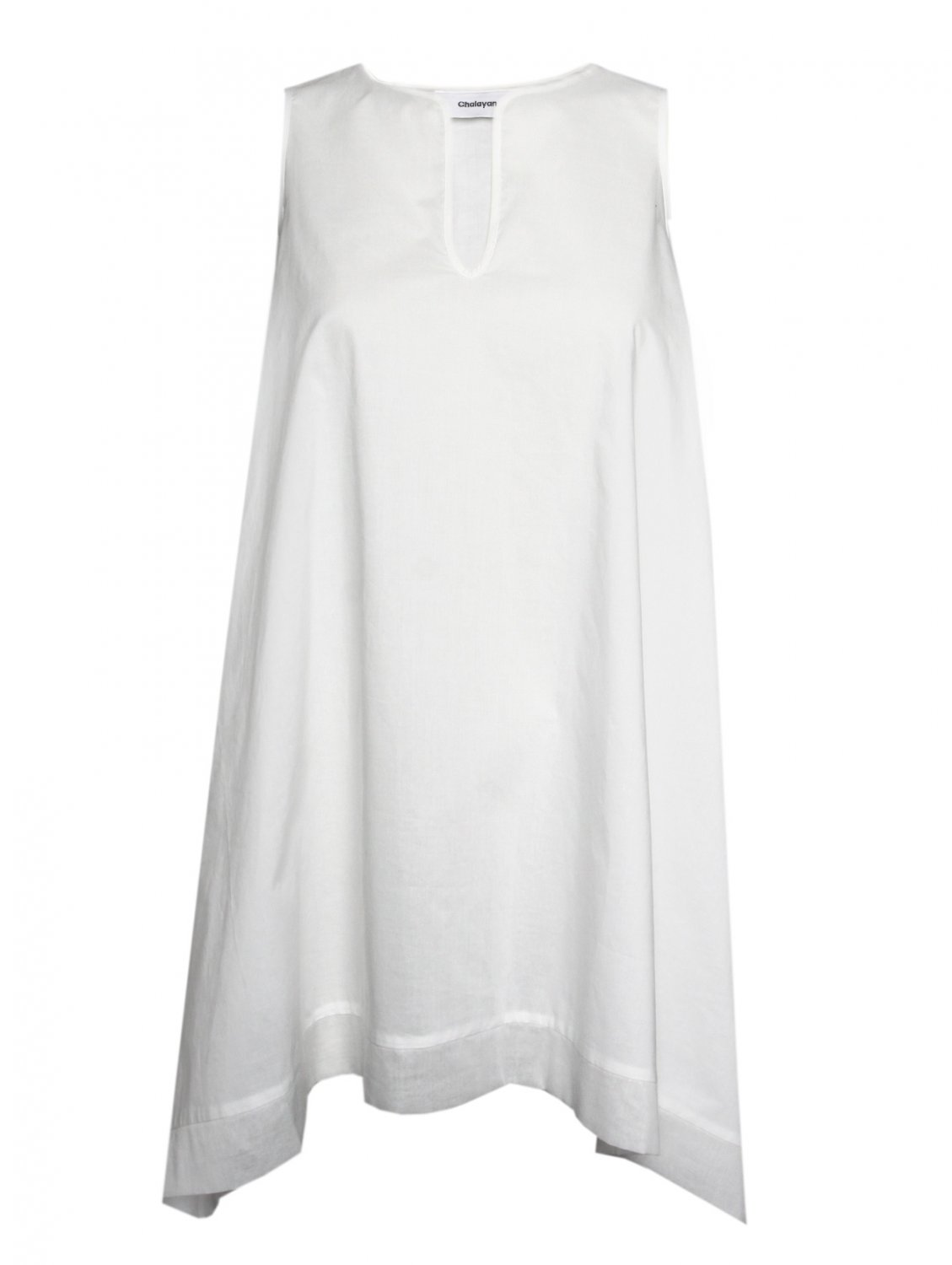 Hussein chalayan Hanky Tunic Dress White in White | Lyst
