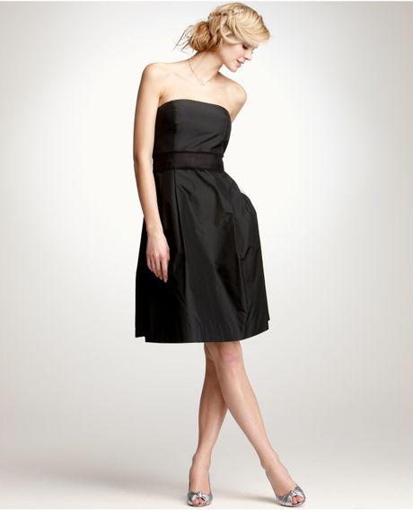 Ann taylor silk taffeta strapless bridesmaid dress in for Anne taylor wedding dress