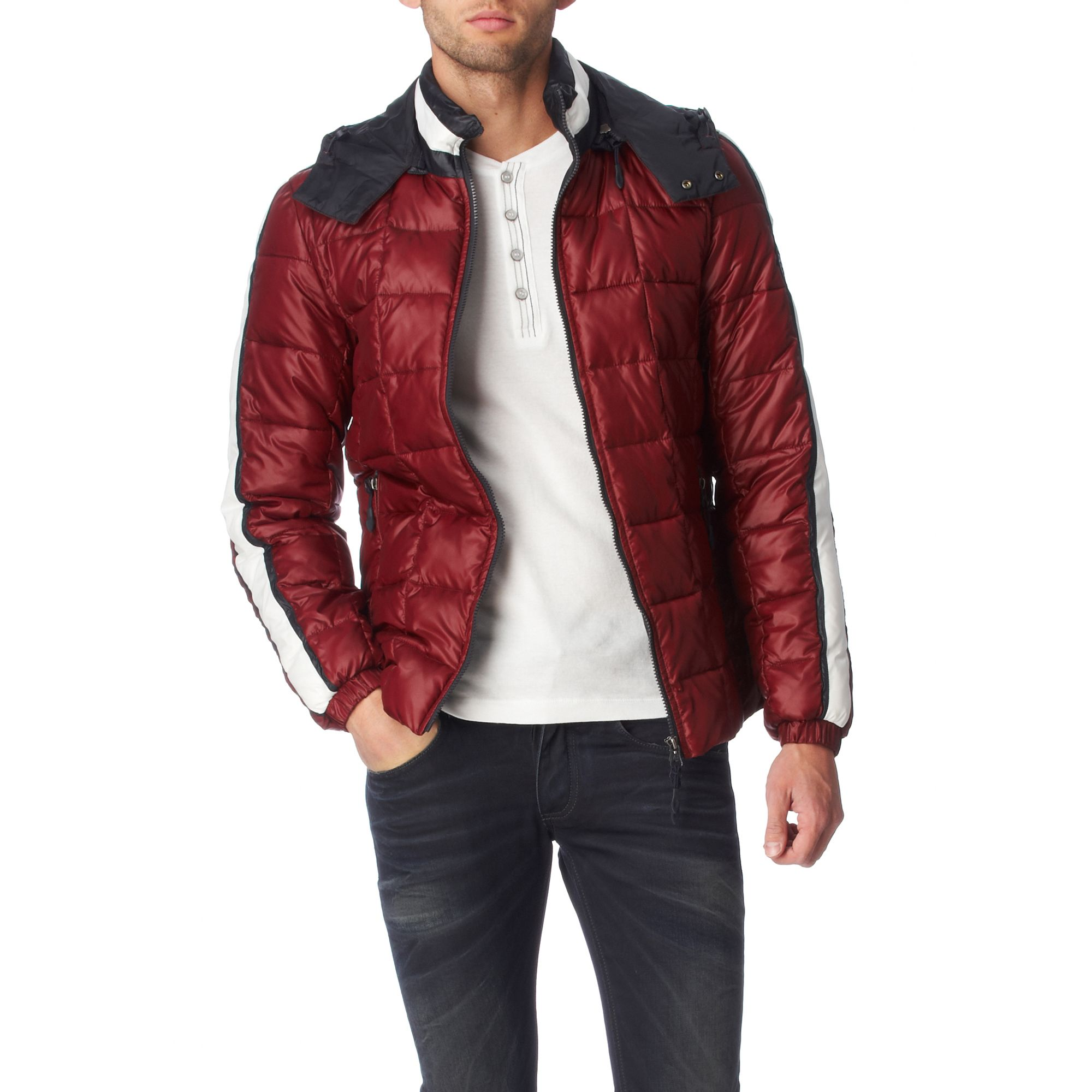 Armani jeans Quilted Padded Jacket in Purple for Men   Lyst : armani jeans quilted jacket - Adamdwight.com