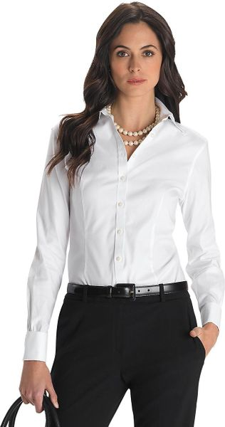 28 creative womens french cuff blouses for Fitted white dress shirt womens