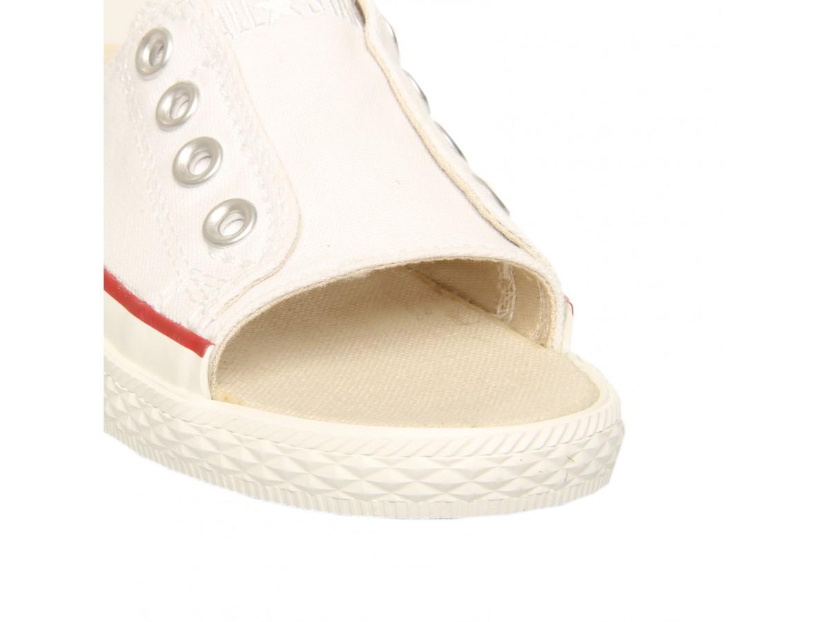Converse Ox Cutaway Flat Sandal In White Whitecanvas Lyst