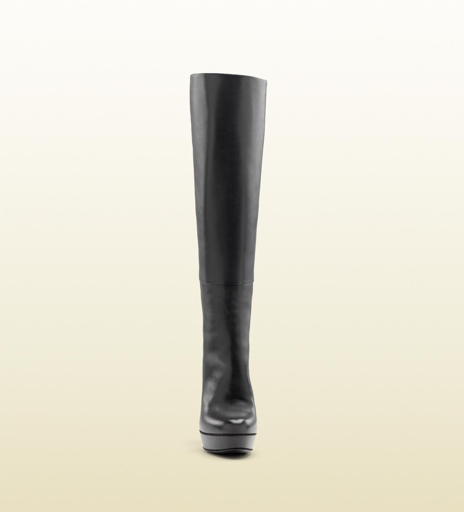 cf1d05553e6 Lyst - Gucci Alexa High Heel Platform Boot in Black