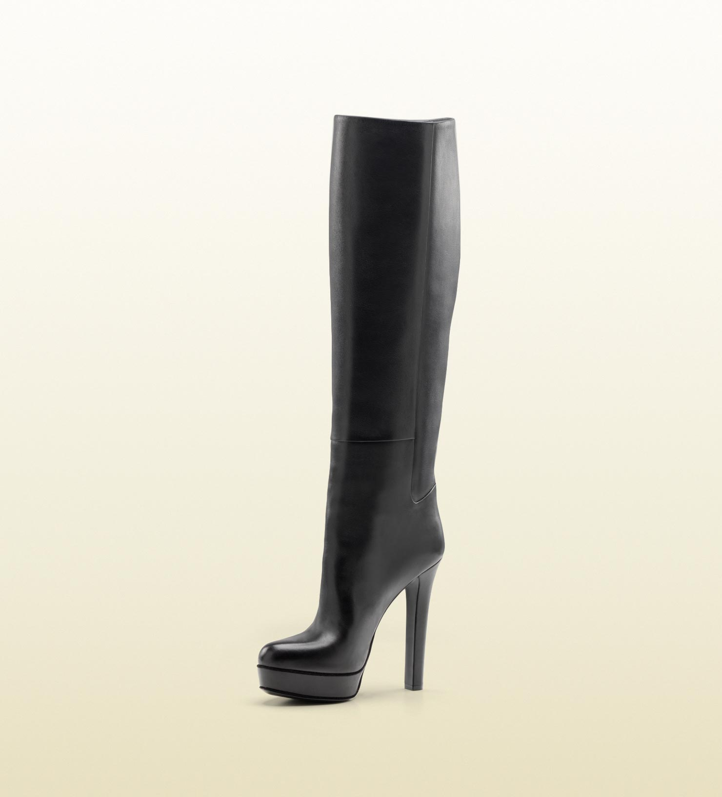 c73f811ea154 Lyst - Gucci Alexa High Heel Platform Boot in Black