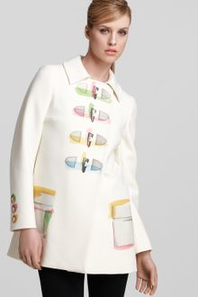 Moschino Cheap & Chic  Printed Trench Coat - Lyst