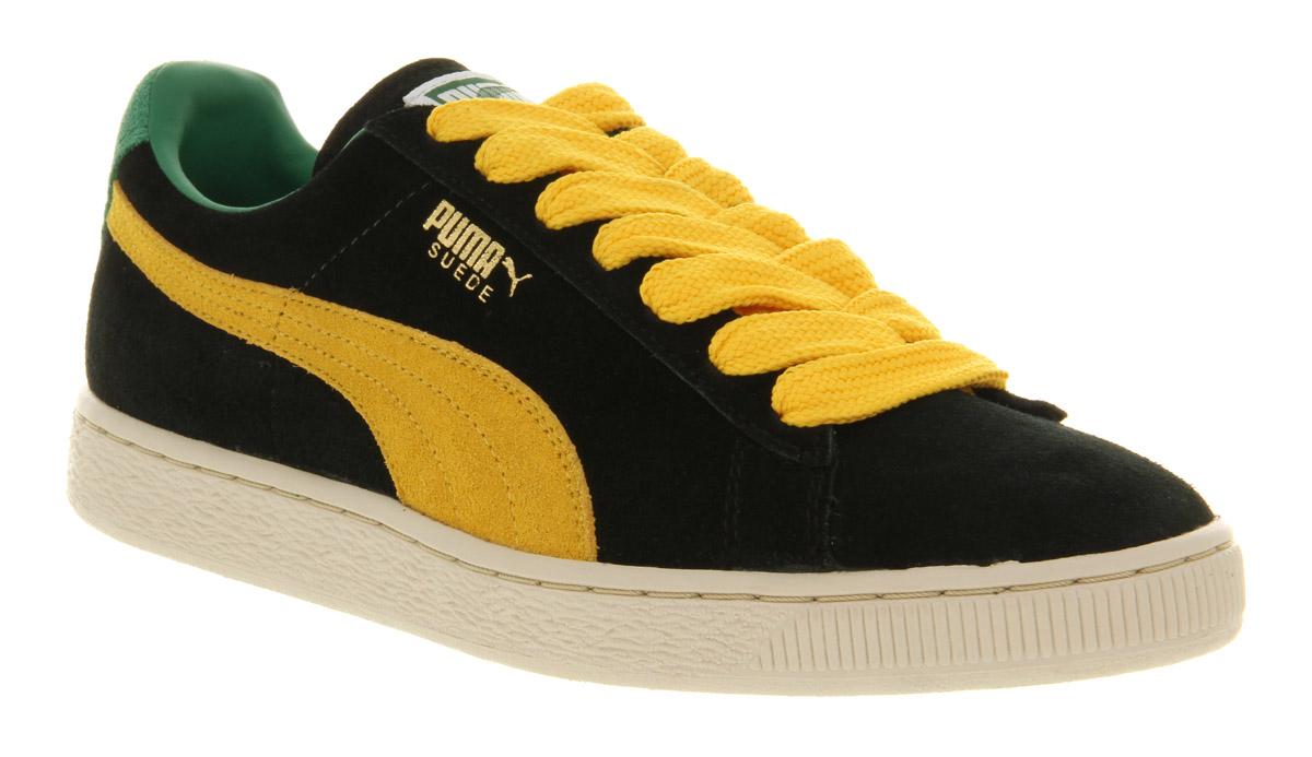 Lyst - PUMA Suede Classic Black yellow in Black for Men ade22ae5ef
