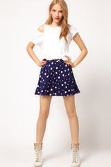 ASOS Collection Asos Skater Skirt in Mixed Spot
