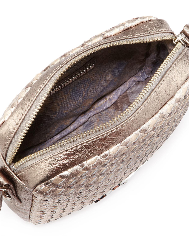 Lyst - Elliott Lucca Woven Camera Bag in Metallic 14e19e338cb76