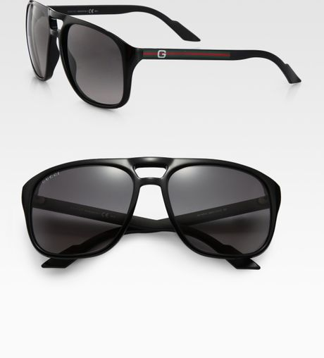 Gucci Acetate Aviator Sunglasses in Blue for Men