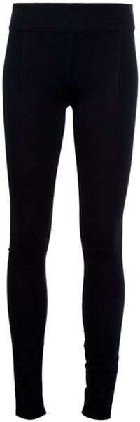Helmut Lang Seam Detail Legging in Black - Lyst