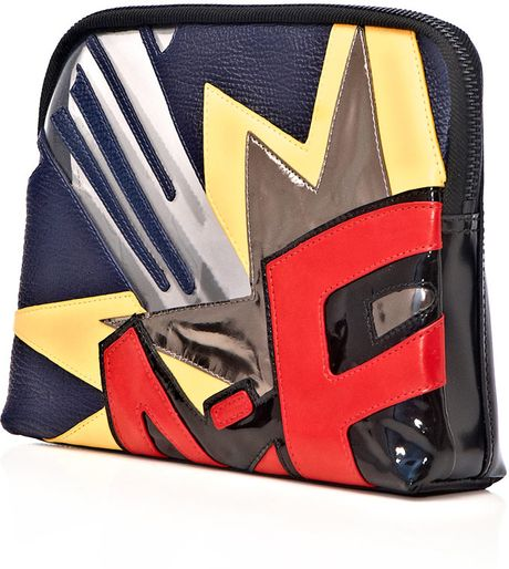 3.1 Phillip Lim Bang Patchwork 31 Minute Clutch Bag in Multicolor (black) - Lyst