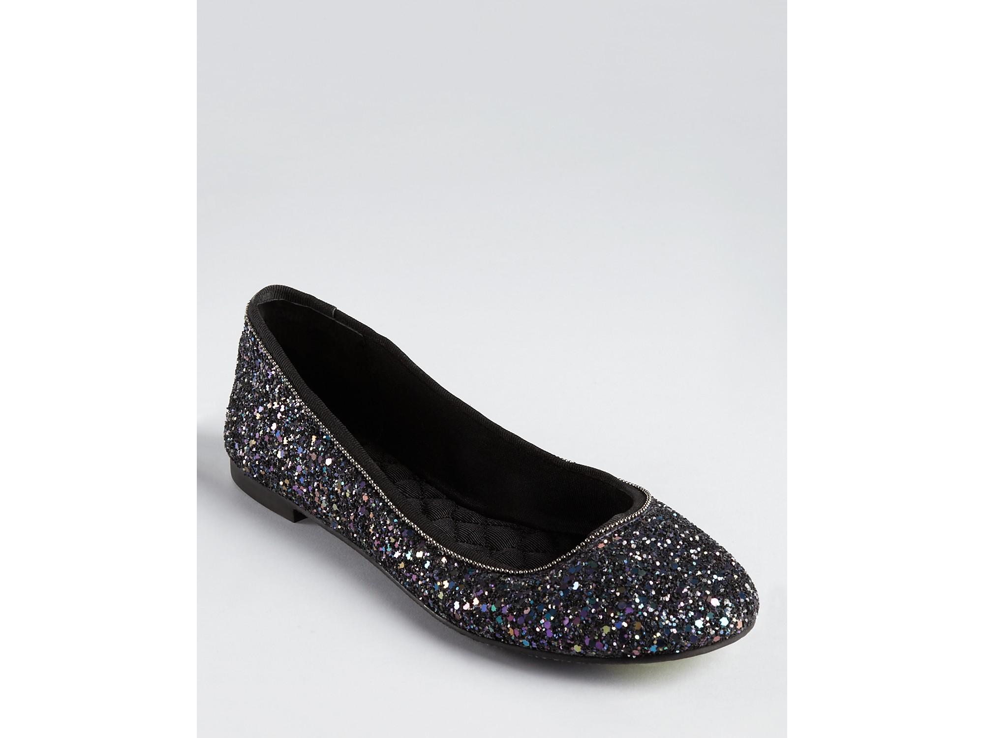 Boutique 9 Flats Aldenia3 Glitter in Black | Lyst