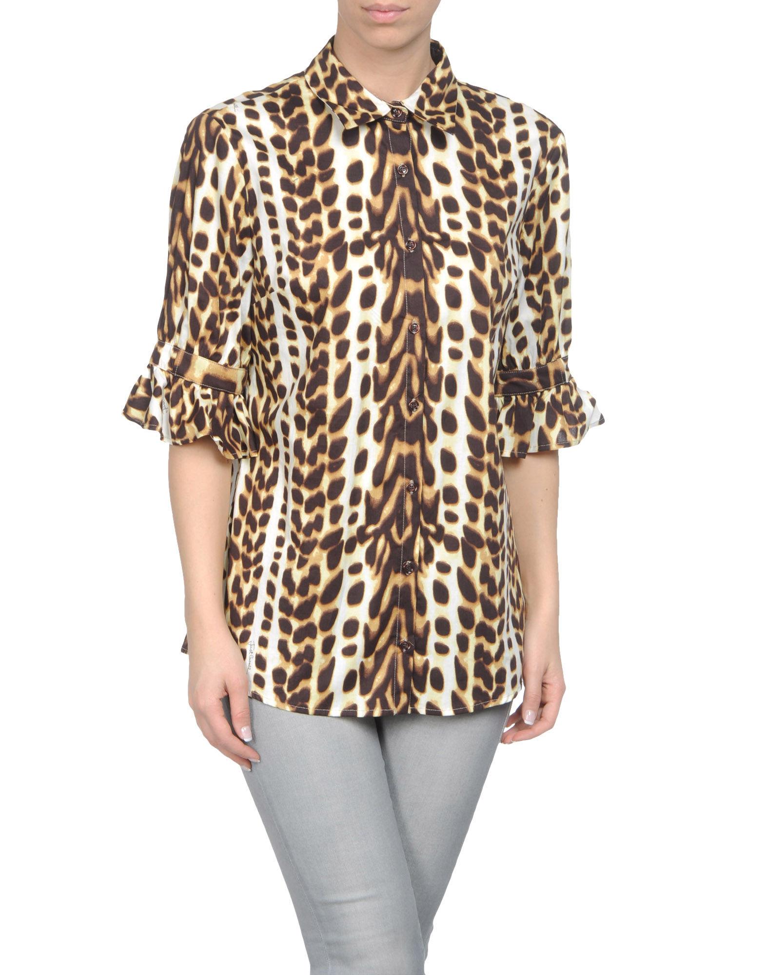 Just cavalli shirt with three quarter length sleeves in for Three quarter length shirt