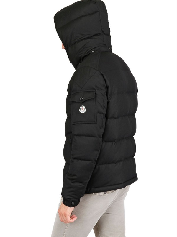 moncler men's black down jacket