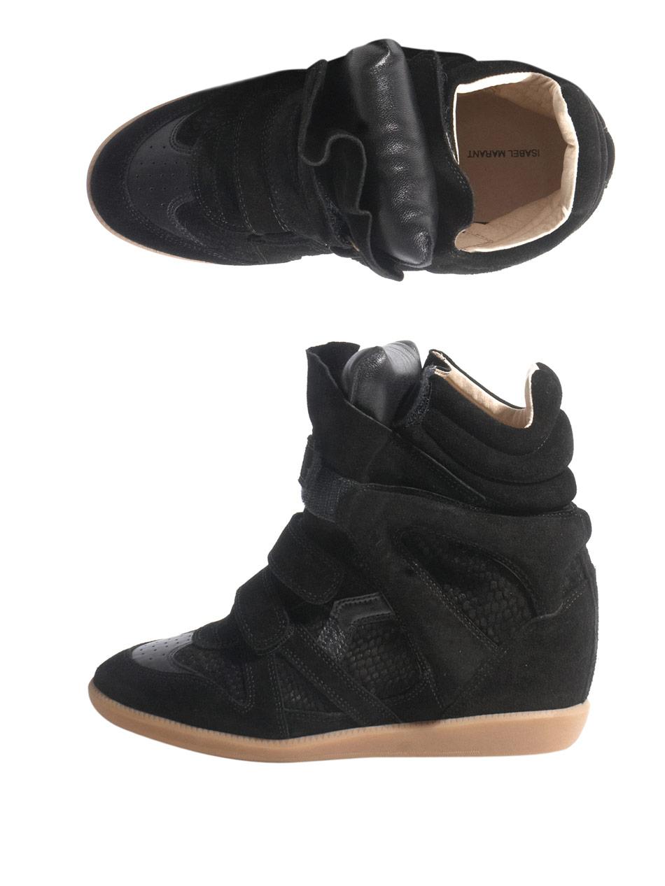 toile isabel marant bekett sneaker in black lyst. Black Bedroom Furniture Sets. Home Design Ideas