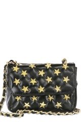 2 Di Picche Recycled Stars On Soft Napa Leather Shoulder Bag