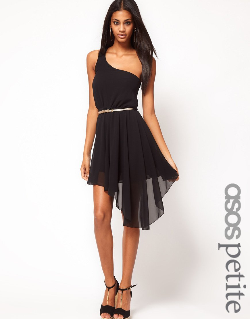 asos exclusive one shoulder asymmetric dress with