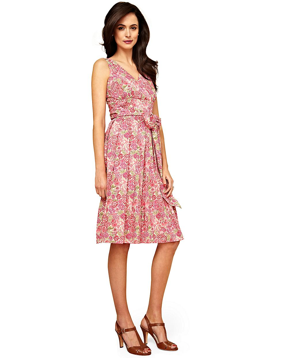 Lyst Brooks Brothers Liberty Print Cotton Dress In Pink