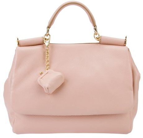 Dolce & Gabbana Leather Tote in Pink