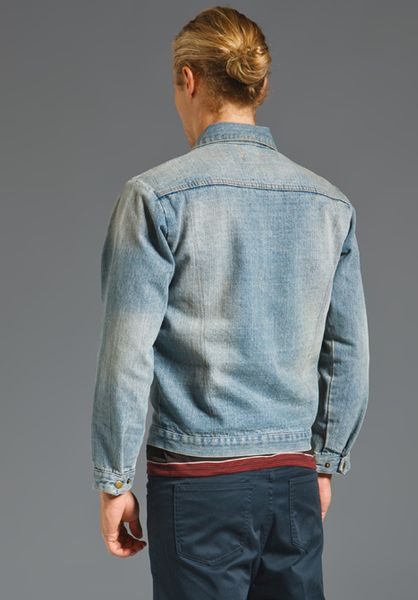 Rvca X Alex Knost Signature Collection Jean Jacket In Blue