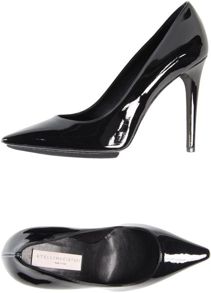 Stella Mccartney Closedtoe Slipons in Black - Lyst
