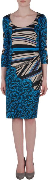 Versace Short Dress in Blue (fuchsia)