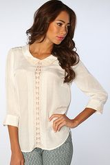 Free People The Geek Rock Top in Ivory