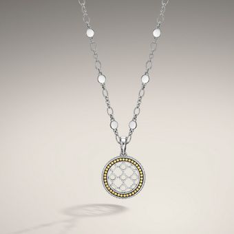 John Hardy Round Drop Pendant On Chain Necklace - Lyst