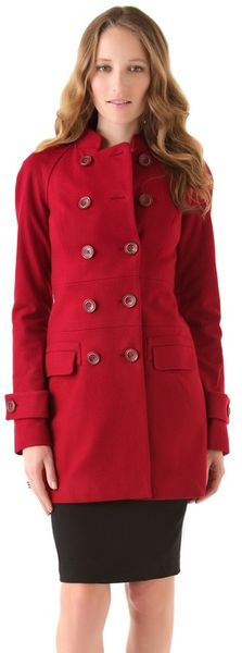 Rachel Zoe Farrah Raglan Coat in Red (rose)