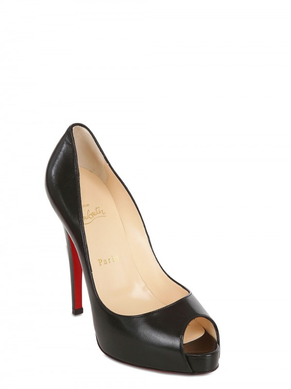christian louboutin leather prive pumps