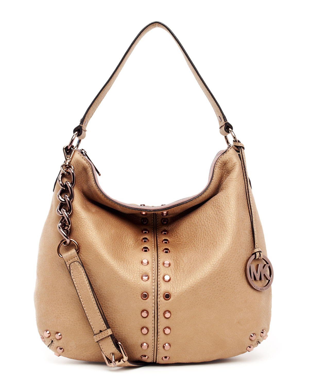 f737a71779ea ... sale lyst michael kors uptown astor large shoulder bag in natural ddabc  da1d3