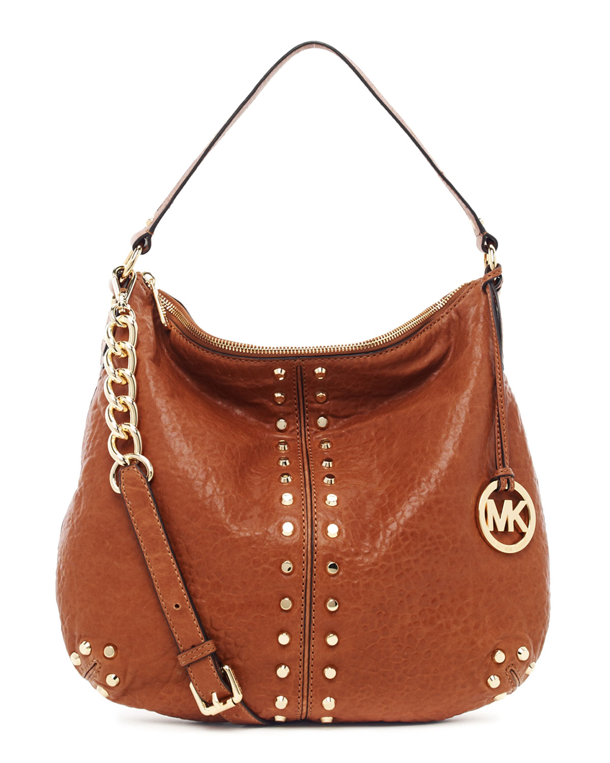 e163e5618c83 ... uk lyst michael kors uptown astor large shoulder bag in brown b5b3c  46b51