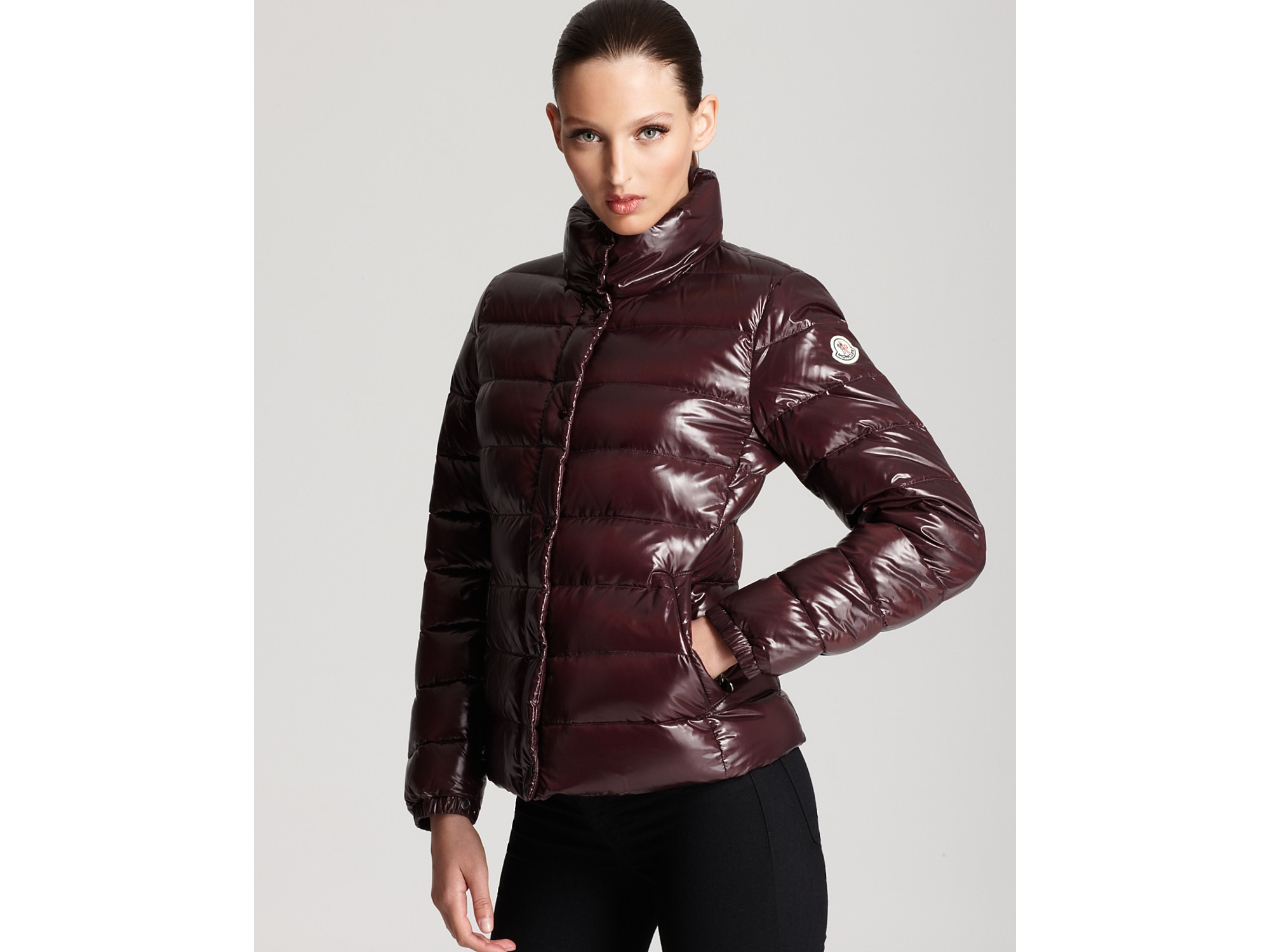 Lyst - Moncler Clairy Lacquer Short Down Coat in Red fc3668951