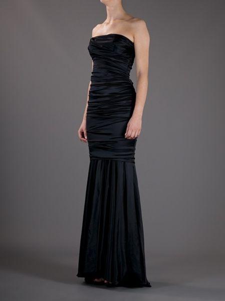 Dolce Amp Gabbana Strapless Evening Gown In Black Lyst