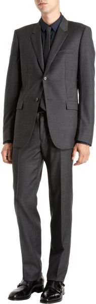 Jil Sander Milva Puppytooth Suit in Black for Men
