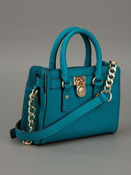 Michael Kors Cobalt Mini Hamilton Bag in Blue (cobalt)