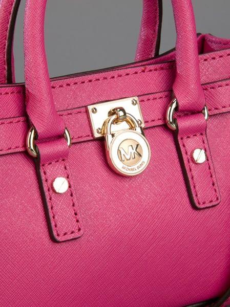 Michael Kors Mini Hamilton Bag In Pink Lyst