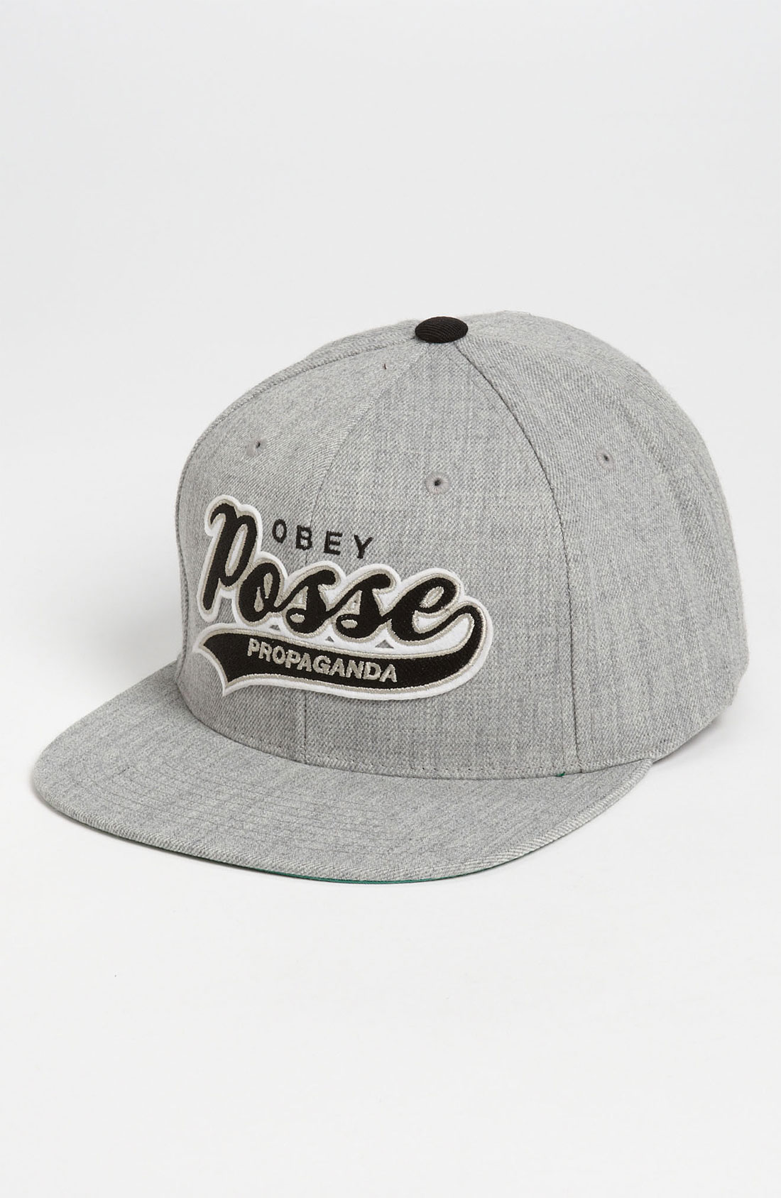 obey original on deck snapback baseball cap in gray for