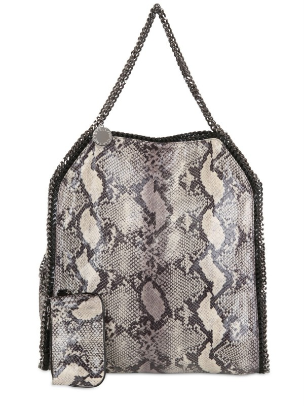 049d9176762e Lyst - Stella McCartney Large Falabella Faux Python Bag in Gray