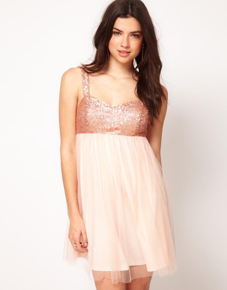 Sequin Bust Dress - Cocktail Dresses 2016