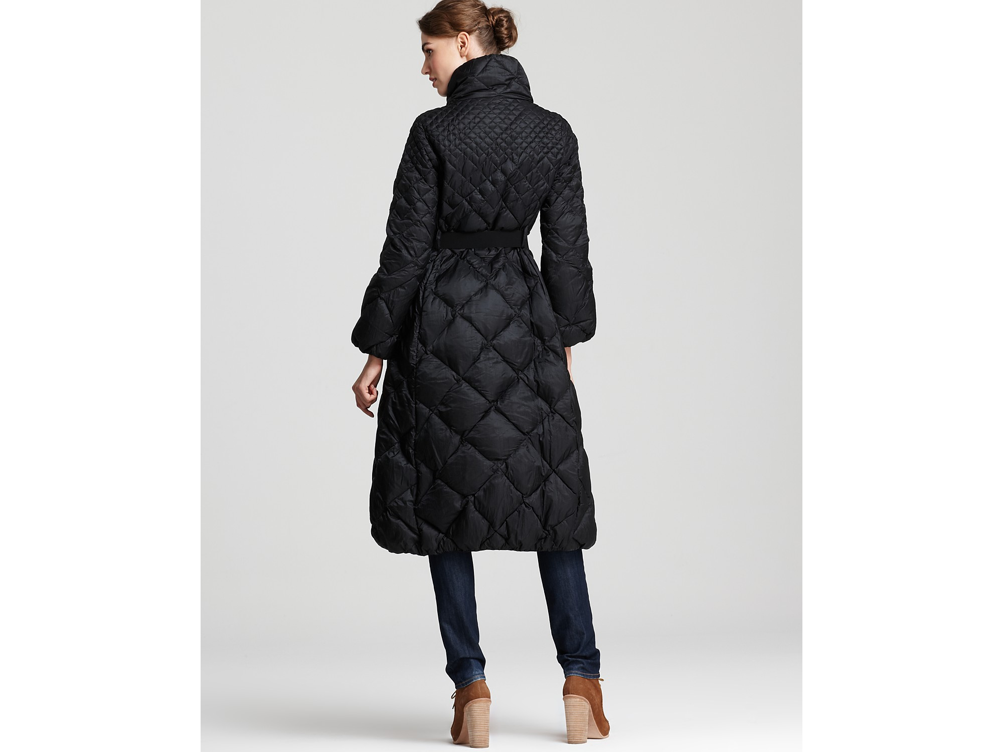 Lyst Moncler Carcajou Long Quilted Down Coat In Black