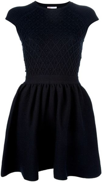Red Valentino Aline Dress in Blue (navy) - Lyst