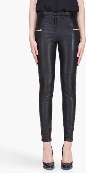 By Malene Birger Black Leather Sefora Pants in Black - Lyst
