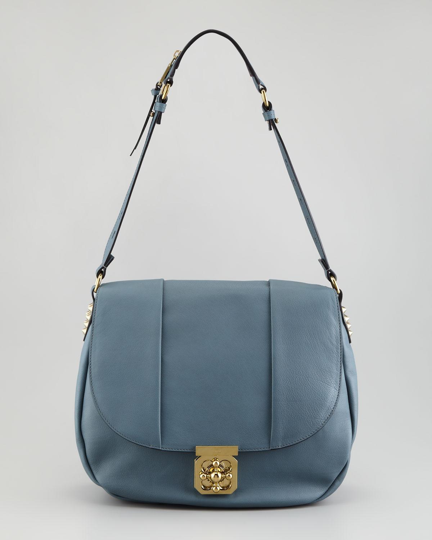 Chloe Elsie Medium Shoulder Bag Capri Night 4