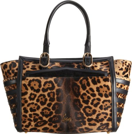 Christian Louboutin Farida Leopard Print Pony Bowling Bag in Brown (leopard)