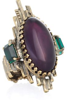 Emilio Pucci Amethyst and Glass Ring - Lyst
