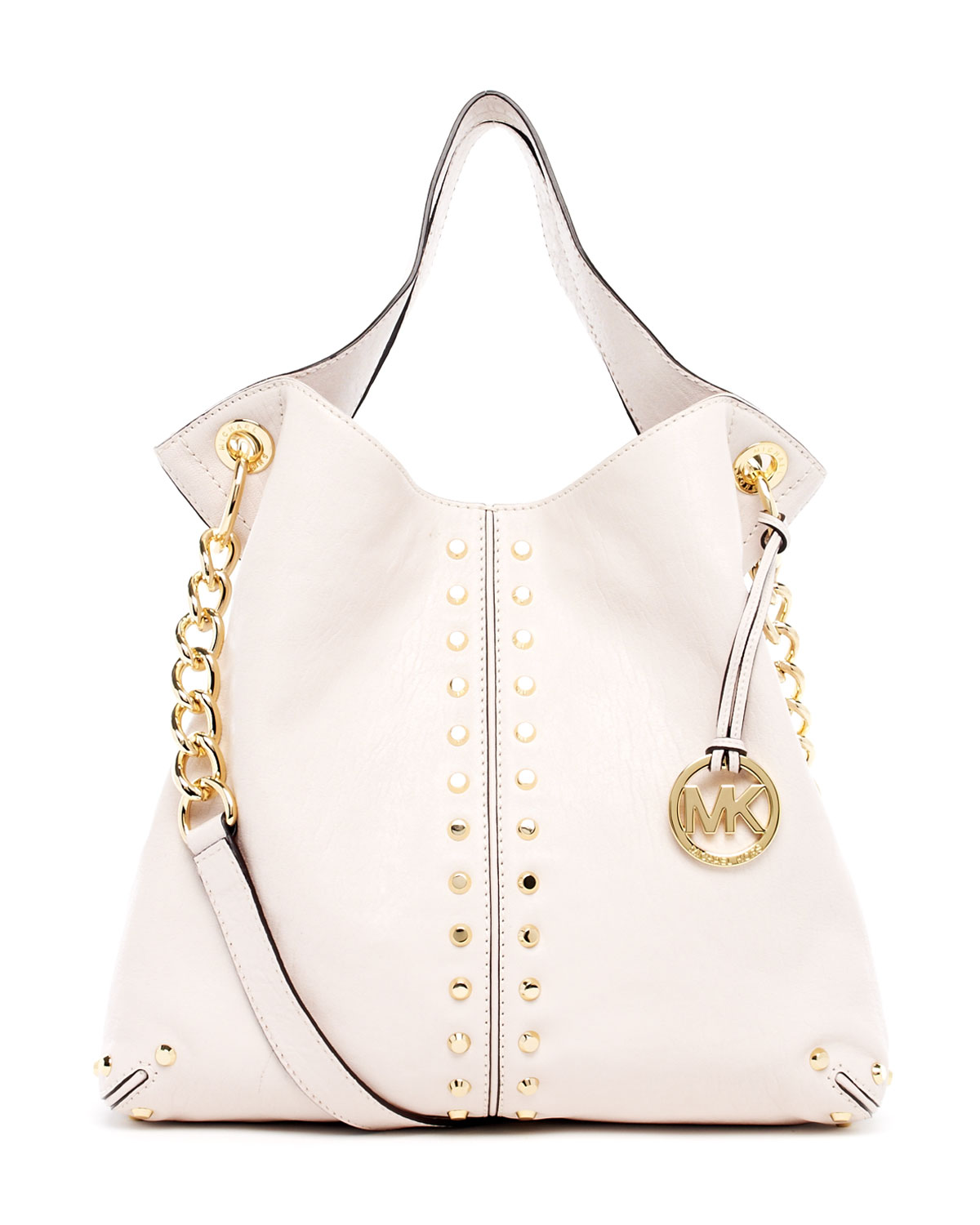 d828c6dd46b4 ... inexpensive lyst michael michael kors uptown astor large shoulder tote  in white e000d 659b4
