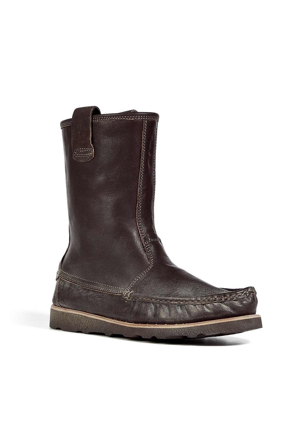 Lyst Ndc Brown Moccasin Nebraska Boots In Brown For Men